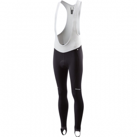 Sportive youth thermal bib tights  black age 13 - 14