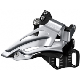 Deore M618-E double front derailleur  E-type  top swing  dual pull