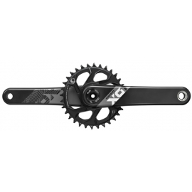 CRANK X01 EAGLE FAT BIKE 4 DUB 12S W DIRECT MOUNT 30T X-SYNC 2 CHAINRING (DUB CUPS/BEARINGS NOT INCLUDED):