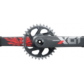 SRAM Crankset X01 Eagle Boost 148 DUB 12s 170 w Direct Mount 32T X-SYNC 2 Chainring Lunar Oxy (DUB Cups/Bearings not included) C2