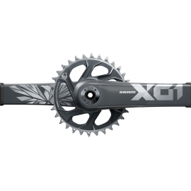 SRAM Crankset X01 Eagle Boost 148 DUB 12s 170 w Direct Mount 32T X-SYNC 2 Chainring Lunar Polar (DUB Cups/Bearings not included) C2