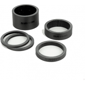 SRAM HEADSET SPACER SET  UD CARBON (2.5MM X 2  5MM X 1  10MM X 1  20MM X 1):1.1/8 (28.8MM)