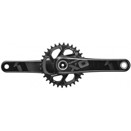 SRAM X01 CRANK - GXP - 1X11 - 175MM -- INCLUDES 32T DIRECT MOUNT CHAINRING (GXP CUPS NOT INCLUDED):11SPD 175MM 32T
