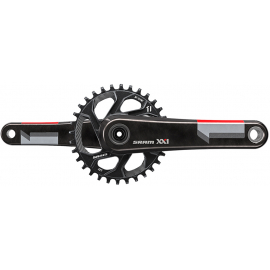 SRAM XX1 CRANK - GXP - 1X11 - Q-FACTOR 168 - 175MM -- INCLUDES 32T DIRECT MOUNT CHAINRING (GXP - CUPS NOT INC.):11SPD 175MM 32T