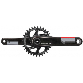 XX1 CRANK - GXP - 1X11 - Q-FACTOR 168 - 175MM - - INCLUDES 32T DIRECT MOUNT CHAINRING (GXP - CUPS NOT INC.):